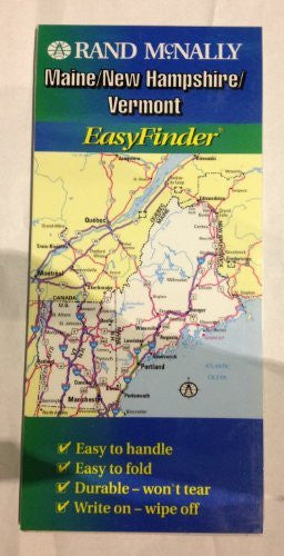 Rand McNally Maine/New Hampshire/Vermont Easyfinder Map