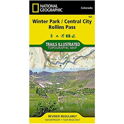 us topo - Trails Illustrated Map Winter Park / Central City / Rollins Pass - Wide World Maps & MORE! - Sports - National Geographic Maps - Wide World Maps & MORE!