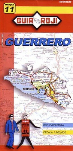 us topo - Guerrero State Map by Guia Roji (English and Spanish Edition) - Wide World Maps & MORE! - Book - Guia Roji - Wide World Maps & MORE!