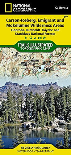 us topo - Carson-Iceberg, Emigrant, and Mokelumne Wilderness Areas [Eldorado, Humboldt-Toiyabe, and Stanislaus National Forests] (National Geographic Trails Illustrated Map) - Wide World Maps & MORE! - Book - National Geographic Maps - Wide World Maps & MORE!