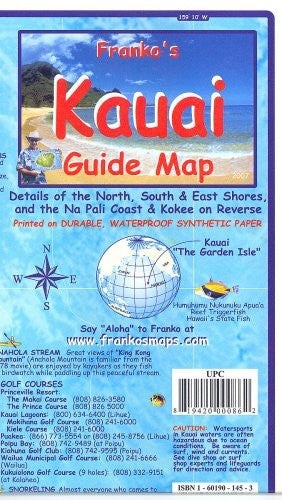 us topo - Franko's Kauai Guide Map - Wide World Maps & MORE! - Book - FrankosMaps - Wide World Maps & MORE!