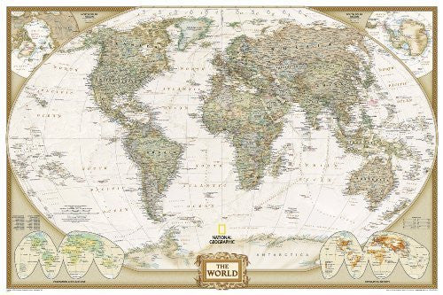 World Executive [Poster Size and Tubed] (National Geographic: Reference Map) by National Geographic Maps - Reference (2013) Map