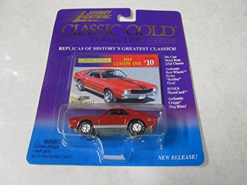 Johnny Lightning Classic Gold Collection 1969 Custom AMX #10 Red and Black - Wide World Maps & MORE! - Toy - Johnny Lightning - Wide World Maps & MORE!