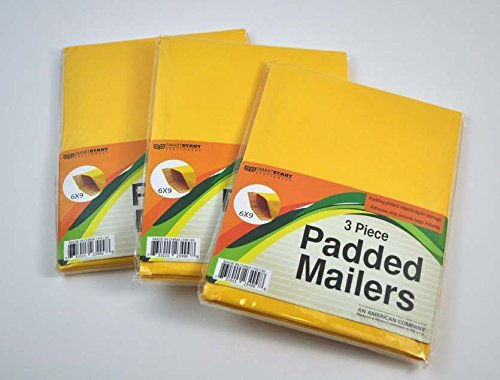3 Piece Padded Mailers 6x9 (3 pack)