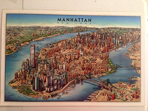 Manhattan Laminated Map