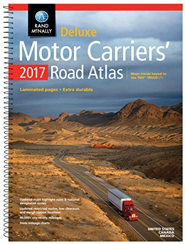 Rand McNally 2017 Deluxe Motor Carriers' Road Atlas (Rand Mcnally Motor Carriers' Road Atlas Deluxe Edition) - Wide World Maps & MORE! - Book - Wide World Maps & MORE! - Wide World Maps & MORE!