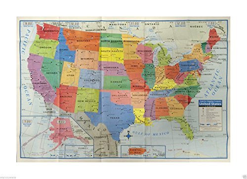 "Wennow United States US Wall Map - 40"" x 28"" USA Large Poster Size - Home School Office"