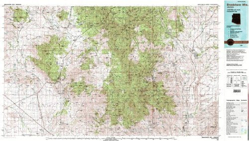 Bradshaw Mts., Arizona 1:100,000-scale Metric Topographic Map (30 x 60 Minute Quadrangle, TAZ2772) - Wide World Maps & MORE! - Book - Wide World Maps & MORE! - Wide World Maps & MORE!