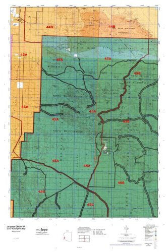 us topo - Arizona GMU 45A Hunt Area / Game Management Units (GMU) Map - Wide World Maps & MORE! - Book - Wide World Maps & MORE! - Wide World Maps & MORE!