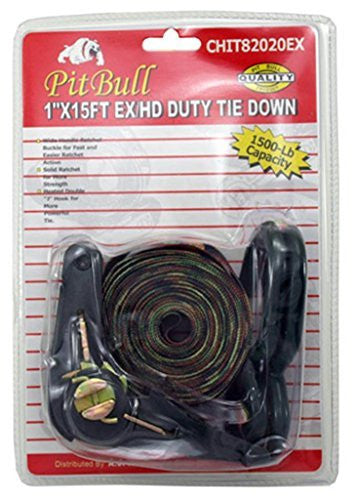 "1"" X 15' Heavy Duty Camo Colored Ratchet Tie Down Strap"