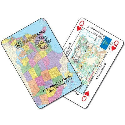 us topo - Universal Map 0762534753 US Playing Cards Fiberbox with Hanger - Wide World Maps & MORE! - Book - Universal Map - Wide World Maps & MORE!