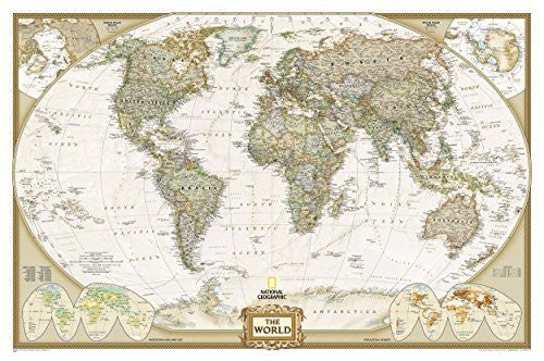 World Executive [Laminated] (National Geographic Reference Map) by National Geographic Maps - Reference (2013) Map
