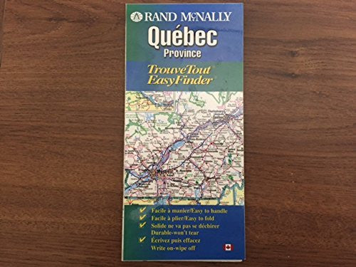 us topo - Rand McNally Quebec Province: Trouvetout Easyfinder - Wide World Maps & MORE! - Book - Wide World Maps & MORE! - Wide World Maps & MORE!