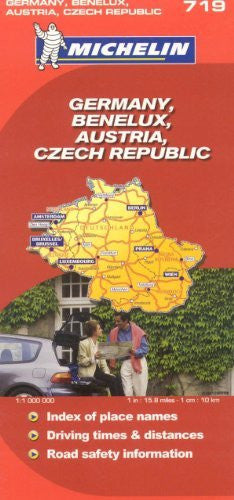 Michelin Map Germany Austria Benelux Czech Republic  719 (Maps/Country (Michelin)) - Wide World Maps & MORE! - Book - Michelin - Wide World Maps & MORE!