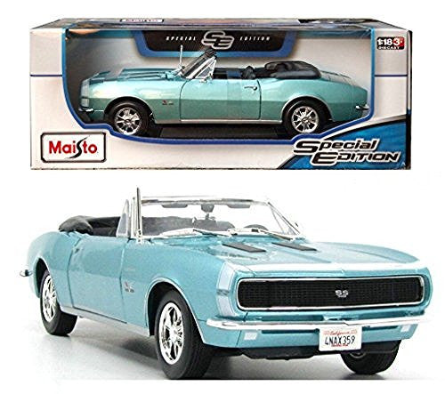 us topo - 1967 Chevrolet Camaro RS/SS 396 Red 1/18 Diecast Model Car By Maisto Blue by Maisto - Wide World Maps & MORE! - Toy - Maisto - Wide World Maps & MORE!
