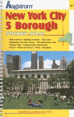 us topo - Hagstrom New York City 5 Borough Pocket Atlas (Hagstrom New York City Five Borough Atlas (Spiral/Laminated)) - Wide World Maps & MORE! - Book - Brand: Hagstrom Map Co - Wide World Maps & MORE!
