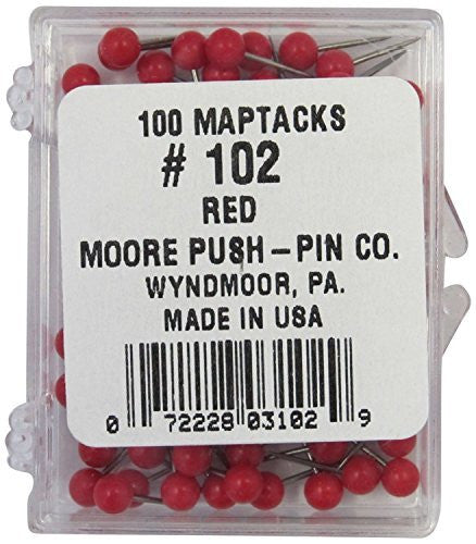 us topo - 1/8 Inch Map Tacks - Red - Wide World Maps & MORE! - Office Product - Moore - Wide World Maps & MORE!