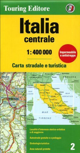 us topo - Italy Central: TCI.02 (Touring Club Italiano Road Maps) - Wide World Maps & MORE! - Book - Wide World Maps & MORE! - Wide World Maps & MORE!