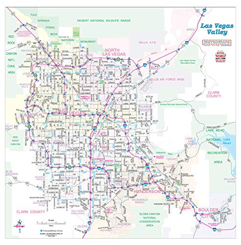 Las Vegas Valley Arterial Streets Wall Map Dry Erase Ready-to-Hang on travel map, rainbow map, magnetic map, butterfly map, disney map, peel stick wall map, stars map, halloween map, dry line map, metal map,