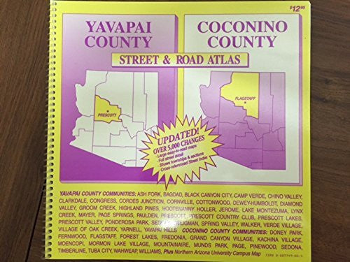 us topo - Yavapai/Coconino Counties Street & Road Atlas - Wide World Maps & MORE! - Book - Wide World Maps & MORE! - Wide World Maps & MORE!