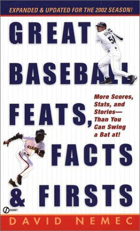 Great Baseball Feats, facts, and Firsts (2002 Edition) (Great Baseball Feats, Facts & Firsts) - Wide World Maps & MORE! - Book - Wide World Maps & MORE! - Wide World Maps & MORE!