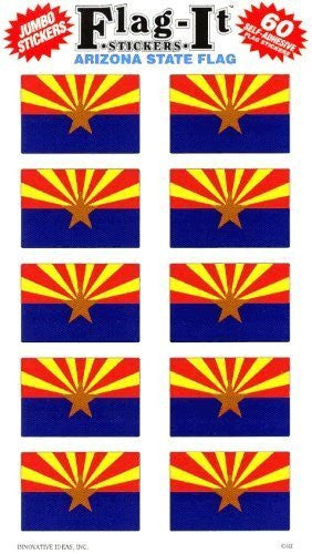 Arizona State Flag Self-Adhesive Flag Stickers