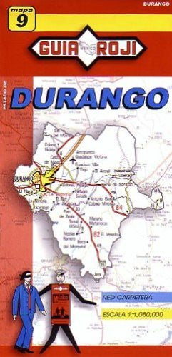 us topo - Durango State Map by Guia Roji (English and Spanish Edition) - Wide World Maps & MORE! - Book - Guia Roji - Wide World Maps & MORE!