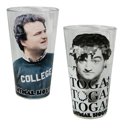 us topo - Animal House 16 Ounce Pint Glass Set - 2 Count - Wide World Maps & MORE! - Kitchen - Universal Studios - Wide World Maps & MORE!