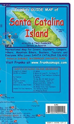 FRANKO MAPS MAP FML CA SANTA CATALINA GUIDE