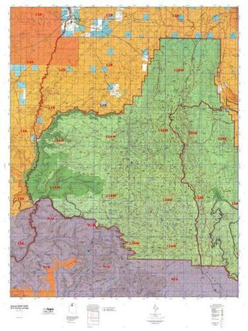 Arizona 12AW Hunt Area / Game Management Unit (GMU) Map - Wide World Maps & MORE! - Map - MyTopo - Wide World Maps & MORE!