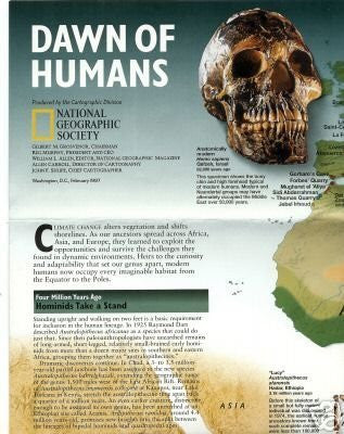 Dawn of Humans/Seeking Our Origins Map (Issue February 1997)