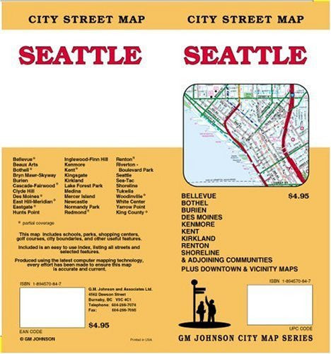 Seattle City Street Map - Wide World Maps & MORE! - Book - Wide World Maps & MORE! - Wide World Maps & MORE!