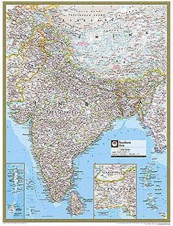 us topo - Southern Asia Gloss Laminated - Wide World Maps & MORE! - Book - Wide World Maps & MORE! - Wide World Maps & MORE!
