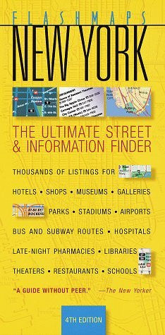 Flashmaps New York: The Ultimate Street & Information Finder (Fodor's Flashmaps New York City) - Wide World Maps & MORE! - Book - Wide World Maps & MORE! - Wide World Maps & MORE!