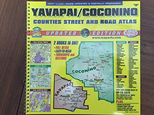 us topo - Yavapai / Coconino Counties Street and Road Atlas - Wide World Maps & MORE! - Book - Wide World Maps & MORE! - Wide World Maps & MORE!