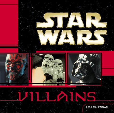 Star Wars Villians 2001 Calendar