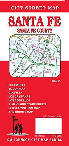 us topo - Santa Fe & Santa Fe County, New Mexico Street Map - Wide World Maps & MORE! - Book - Wide World Maps & MORE! - Wide World Maps & MORE!