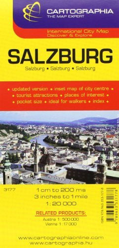 Salzburg Map by Cartographia (City Map) (English, French and German Edition)