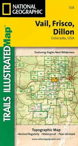 National Geographic Trails Illustrated Vail Frisco Dillon