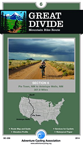 Great Divide Mountain Bike Route #6: Pie Town, New Mexico - Antelope Wells, New Mexico (308 Miles) - Wide World Maps & MORE! - Book - Wide World Maps & MORE! - Wide World Maps & MORE!