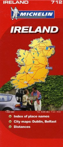 us topo - Michelin Map Ireland 712 (Maps/Country (Michelin)) - Wide World Maps & MORE! - Book - Michelin - Wide World Maps & MORE!