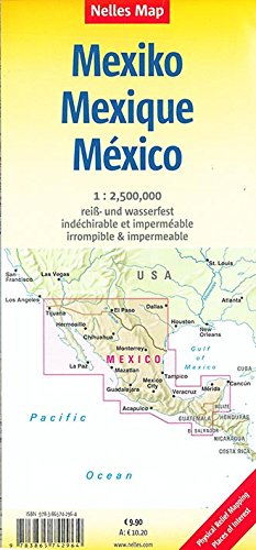 Mexico Nelles Travel Map 1:2.5M