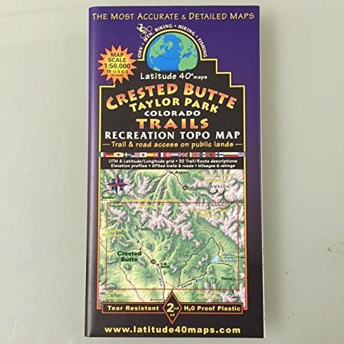 us topo - Crested Butte - Taylor Park Recreation Topo Map - Wide World Maps & MORE! - Book - Wide World Maps & MORE! - Wide World Maps & MORE!