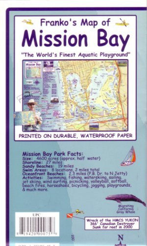 Waterproof Mission Bay, CA Map by Franko