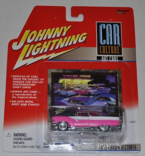 1955 Crown Victoria (Pink) - Car Culture Art Cars - Johnny Lightning - Diecast Car