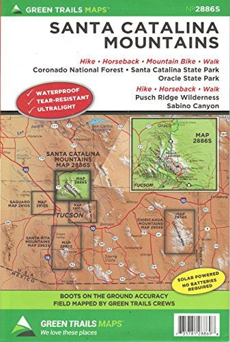 us topo - Santa Catalina Mountains - Wide World Maps & MORE! - Book - Wide World Maps & MORE! - Wide World Maps & MORE!