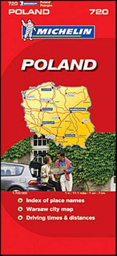 Michelin Map No. 720 Poland, Scale 1:1,700,000 (Michelin Guides and Maps)