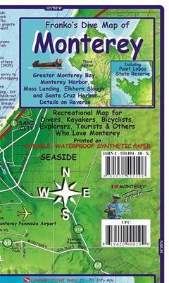 us topo - FRANKO MAPS MAP FML CA MONTEREY BAY GUIDE & DIVE - Wide World Maps & MORE! - Book - Franko Maps - Wide World Maps & MORE!