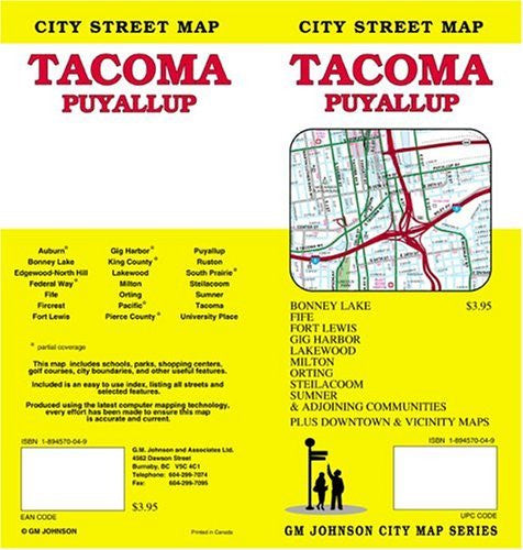 Tacoma\Puyallup Map (folded)