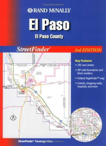 us topo - Streetfinder - El Paso // El Paso County (Rand McNally El Paso Sreeet Guide) - Wide World Maps & MORE! - Book - Brand: Rand McNally n Company - Wide World Maps & MORE!
